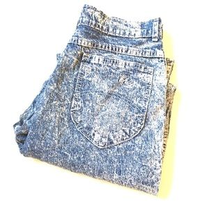 Vintage CHIC high waisted acid wash jeans 14Tall